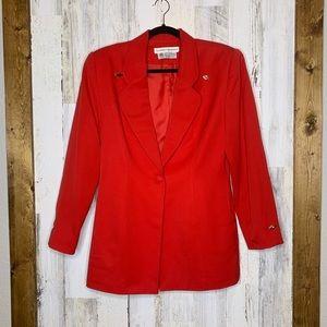 Vintage Eleanor P Brenner wool blazer red size 4 s